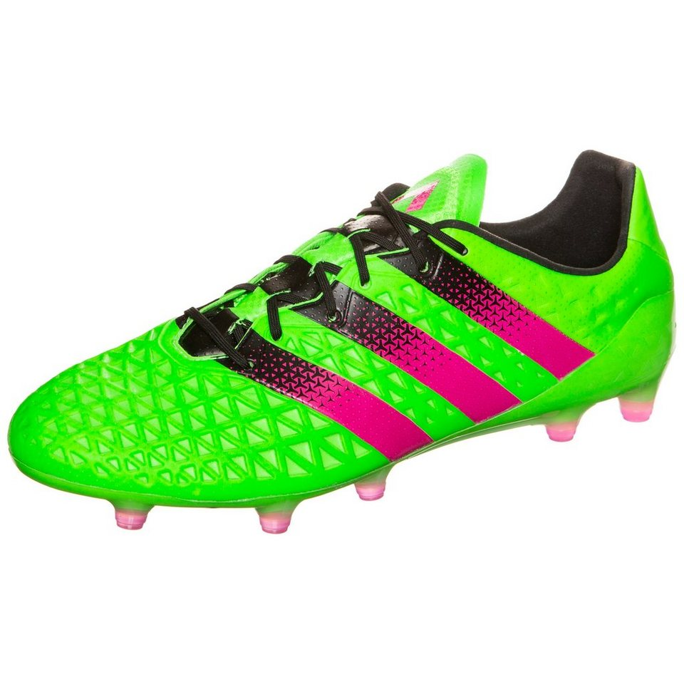 adidas Performance ACE 16.1 FG/AG Fußballschuh Herren in grün / pink