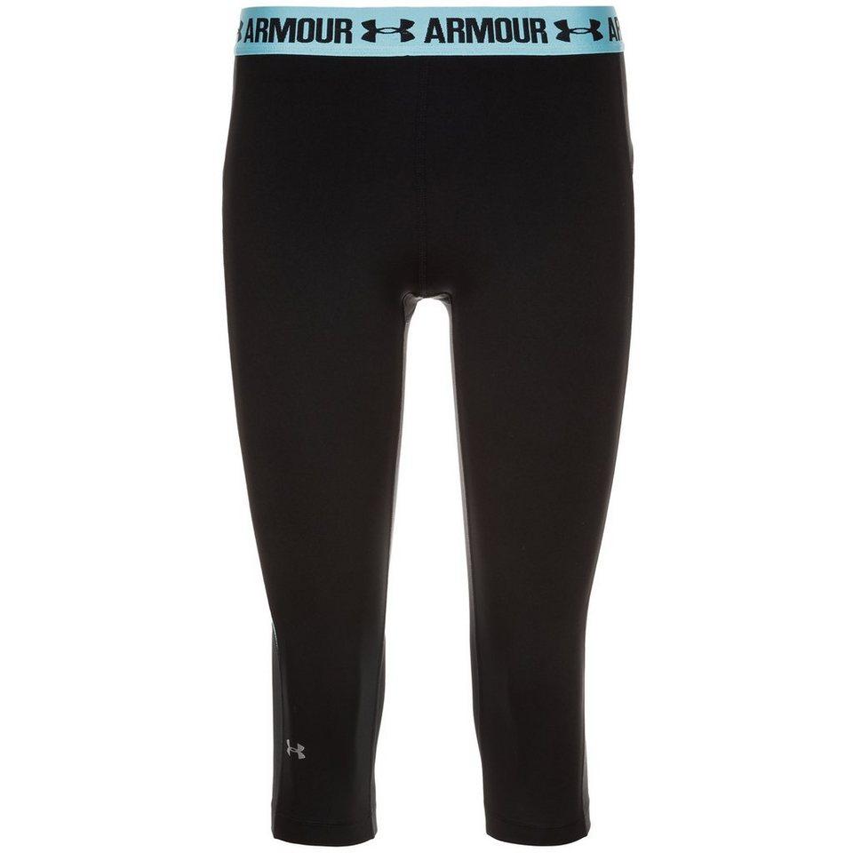 Under Armour HeatGear CoolSwitch Capri Trainingstight Damen in schwarz / blau