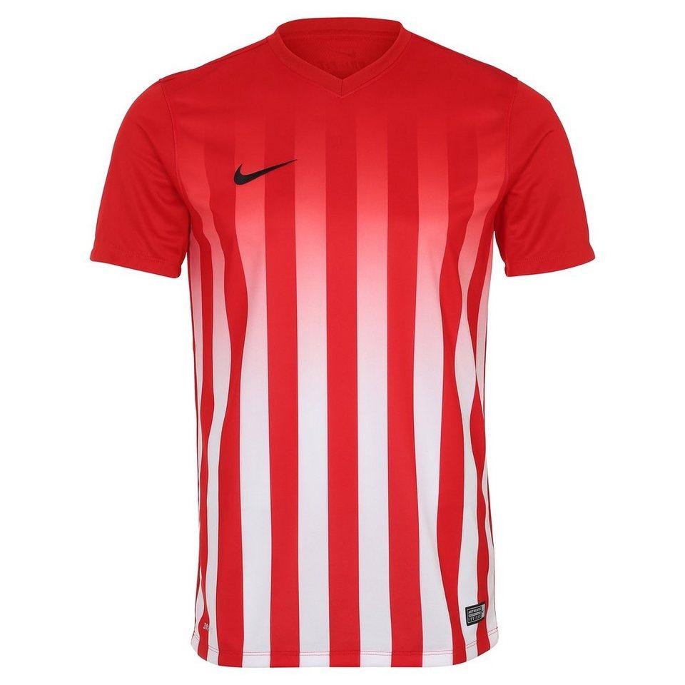 NIKE Striped Division II Fußballtrikot Herren in rot / weiß / schwarz