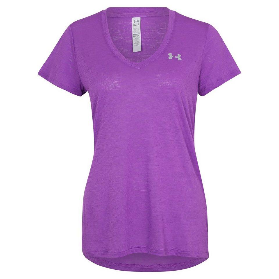Under Armour® HeatGear Tech Trainingsshirt Damen in lila / silber