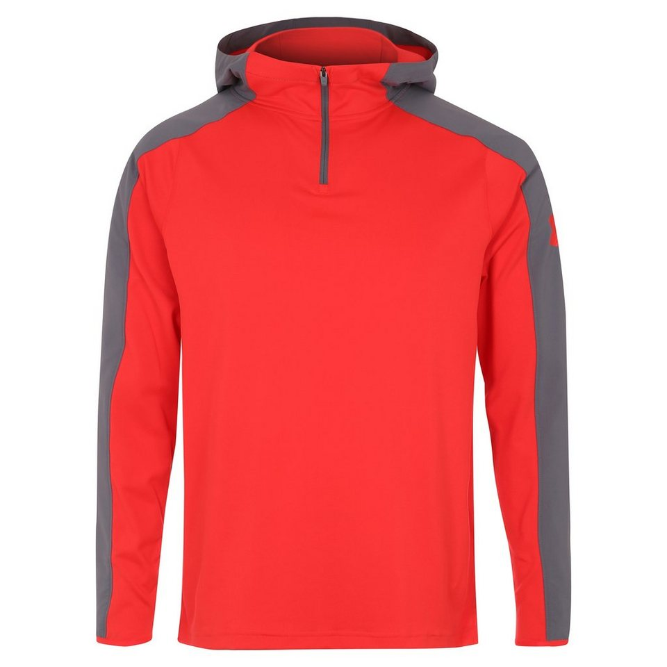 Under Armour® ColdGear Scope Trainingskapuzenpullover Herren in rot / grau