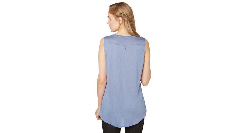 Starttermin Für Verkauf Günstig Kaufen Wahl Tom Tailor Denim T-Shirt lang geschnitten im Stoff-Mix a7E5Gg
