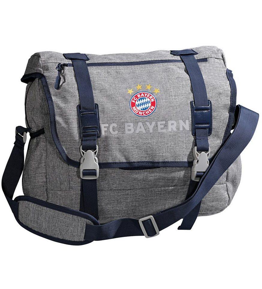 FC Bayern München Messenger Bag FCB, grau melange in grau