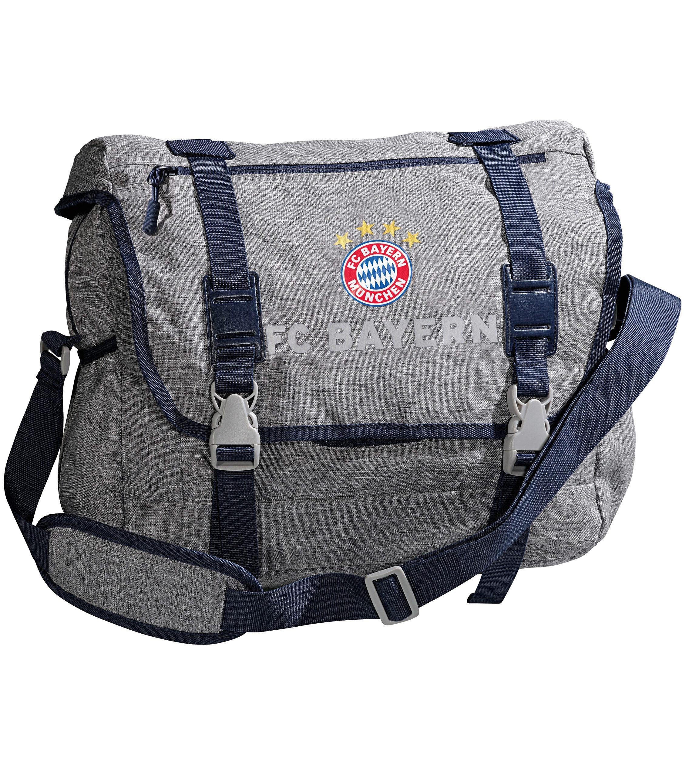 FC Bayern München Messenger Bag FCB, grau melange
