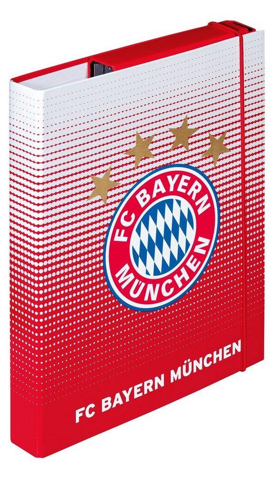 FC Bayern München Heftebox für DIN A4 rot, »FC Bayern München« in rot