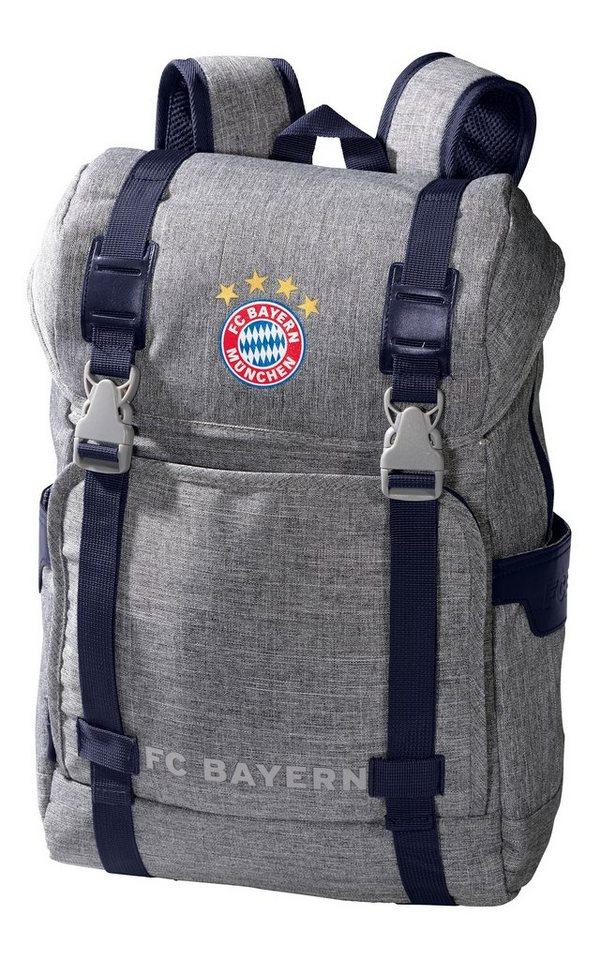 FC Bayern München Rucksack grau melange in grau-melange