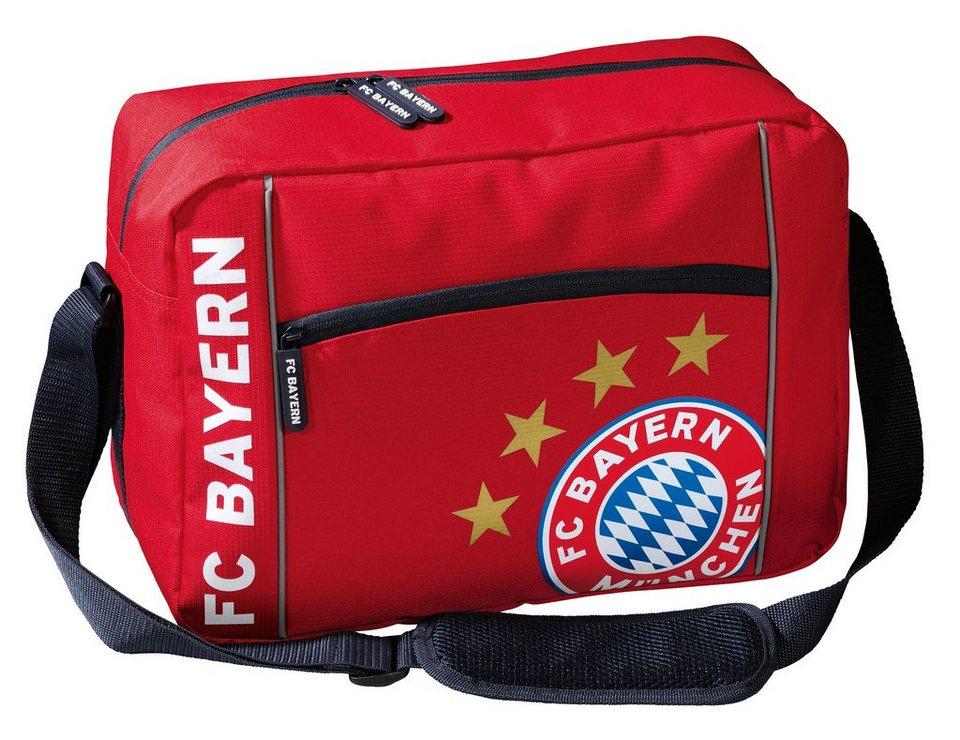 FC Bayern München Schultertasche, rot in rot