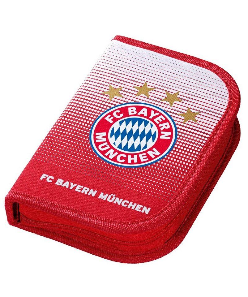 FC Bayern München Mäppchen gefüllt rot, »FC Bayern Federmäppchen« in rot