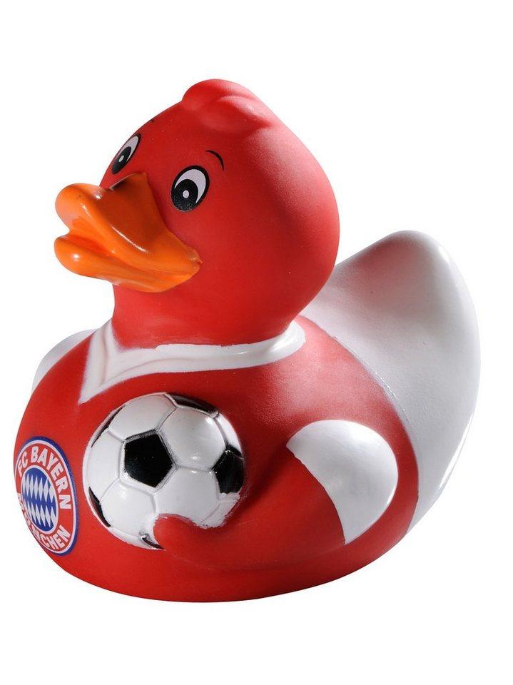 FC Bayern München Quietschenente rot, »Badeente Jersey« in rot