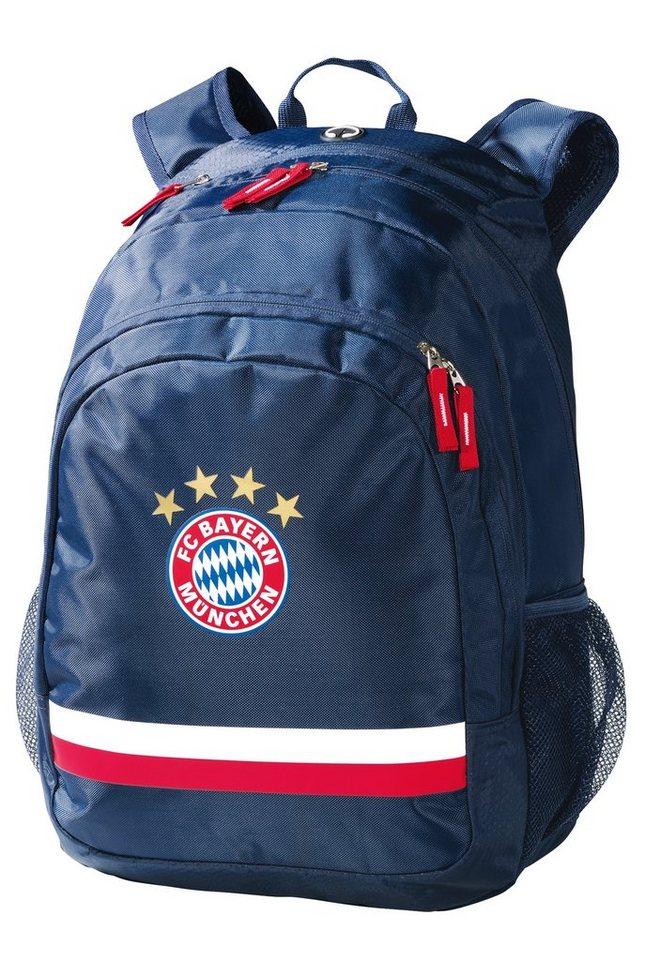 FC Bayern München Rucksack mit Laptopfach 15 Zoll, »Rucksack Logo navy« in blau