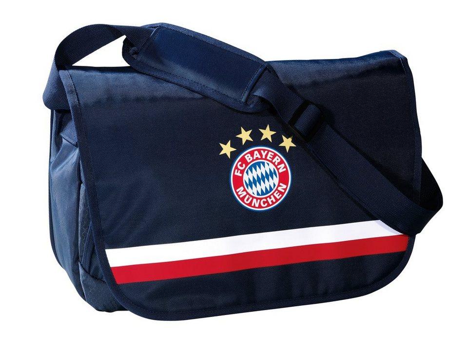 FC Bayern München Umhängetasche mit gepolstertem Laptopfach, »Messenger Bag Logo navy« in blau