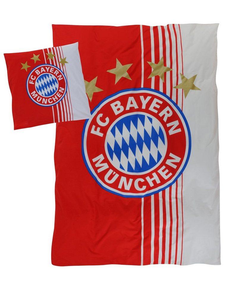 FC Bayern München Bettwäsche FC Bayern rot/weiß
