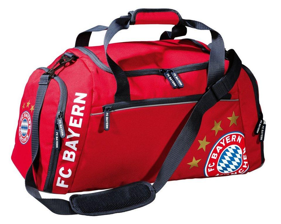 FC Bayern München Reisetasche rot in rot