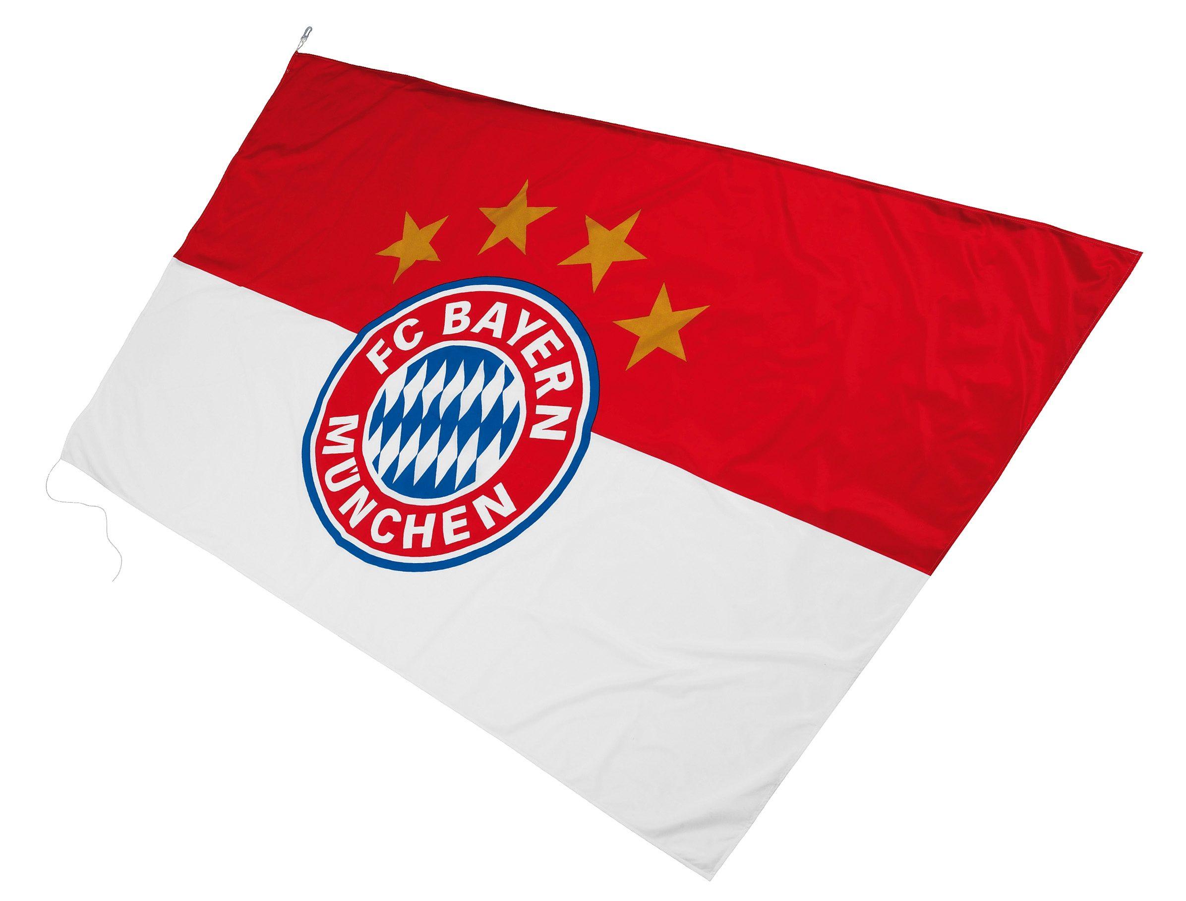 FC Bayern München Fahne, »FC Bayern Hissfahne Logo 250x150 cm«