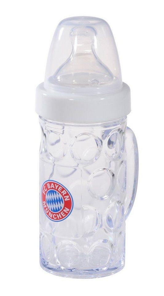 FC Bayern München Babyfläschchen im Bierkrug-Design, »Baby Nuckelkrug«