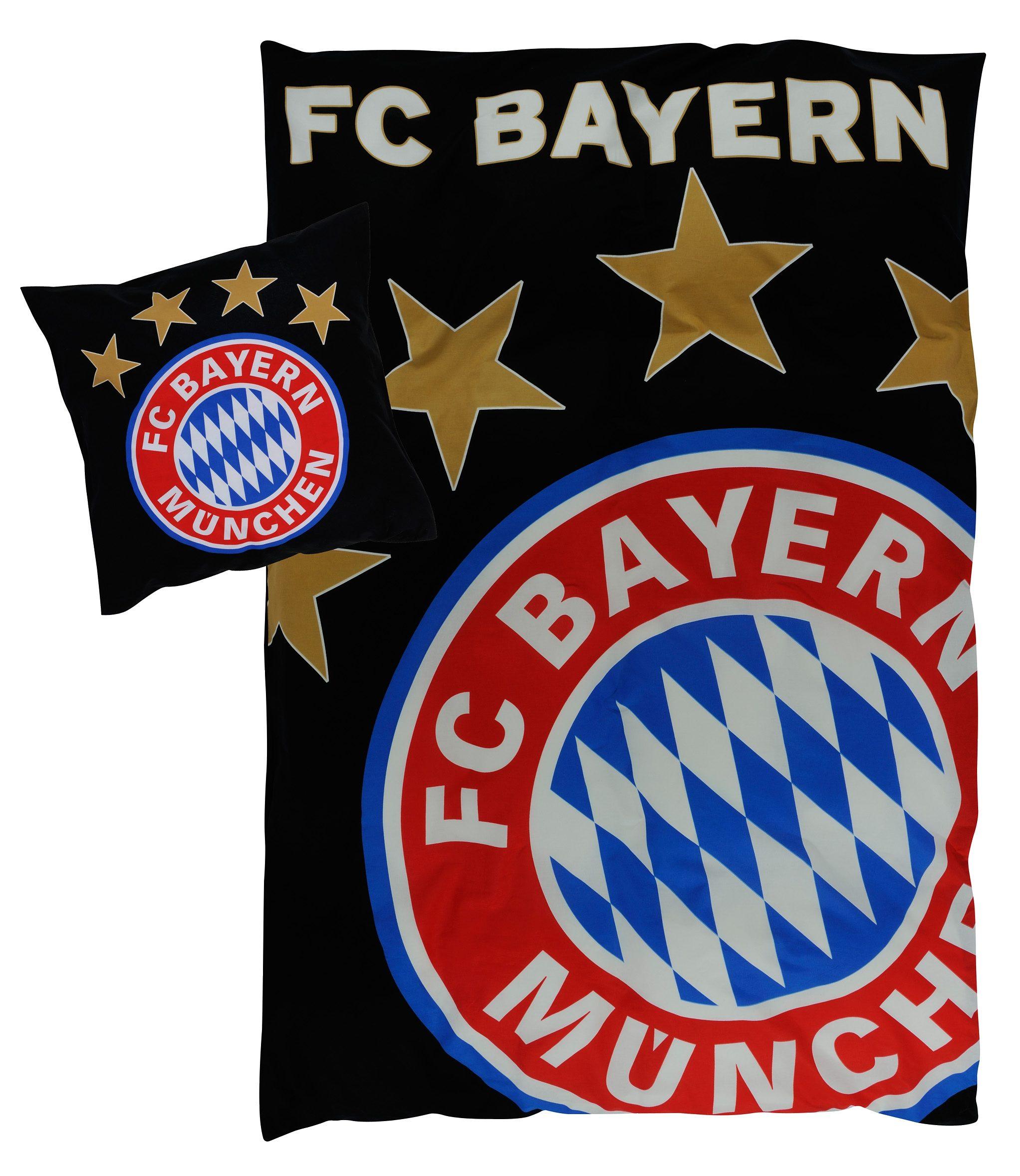 Bettwäsche »Glow«, FC Bayern, floureszierend