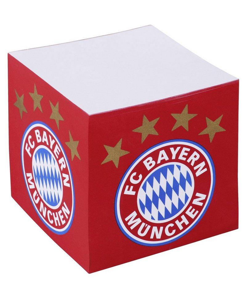 FC Bayern München Notizblock, »Notizquader mit FC Bayern Logo« in rot