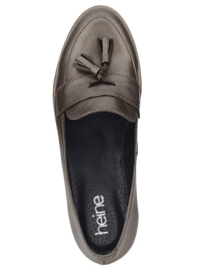 Heine Slipper in taupe/metallic