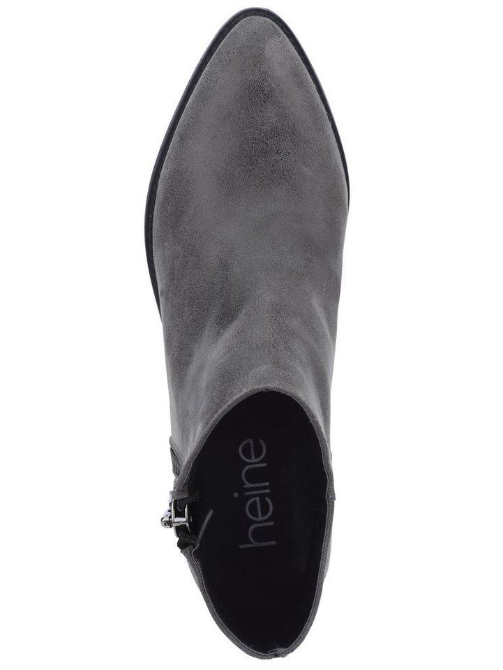 Heine Stiefelette in grau/metallic