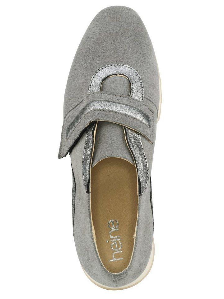 Heine Sneaker in grau/silberfarben
