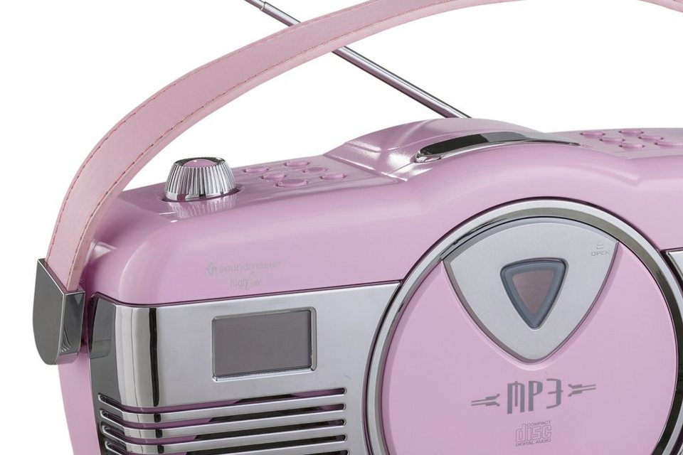 Radio-CD-Player in rosa