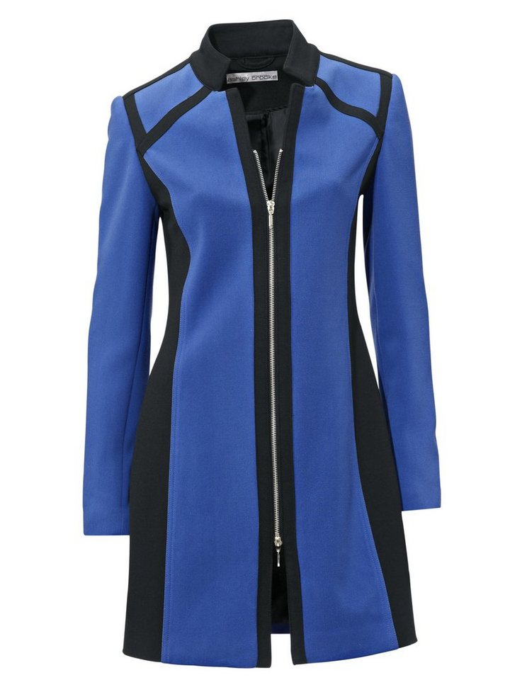 Longblazer in royalblau/schwarz