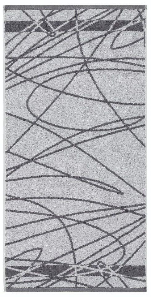 Handtücher, Egeria, »Casual«, mit wildem Muster in grau