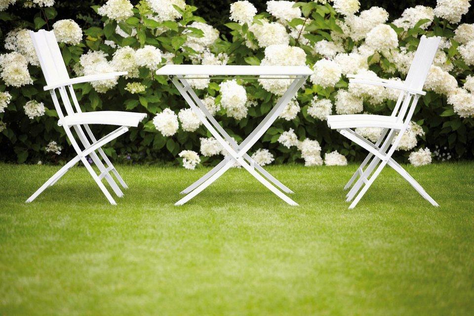 jankurtz Gartentisch »athen«, klappbar in weiß