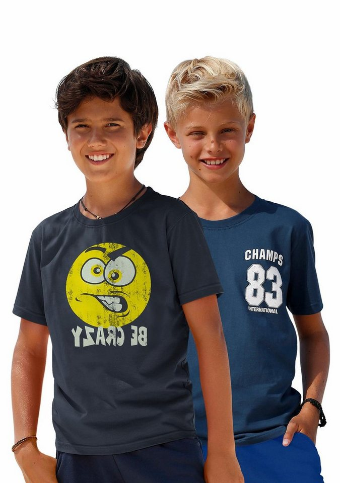 KIDSWORLD T-Shirt (Packung, 2 tlg.) in marine