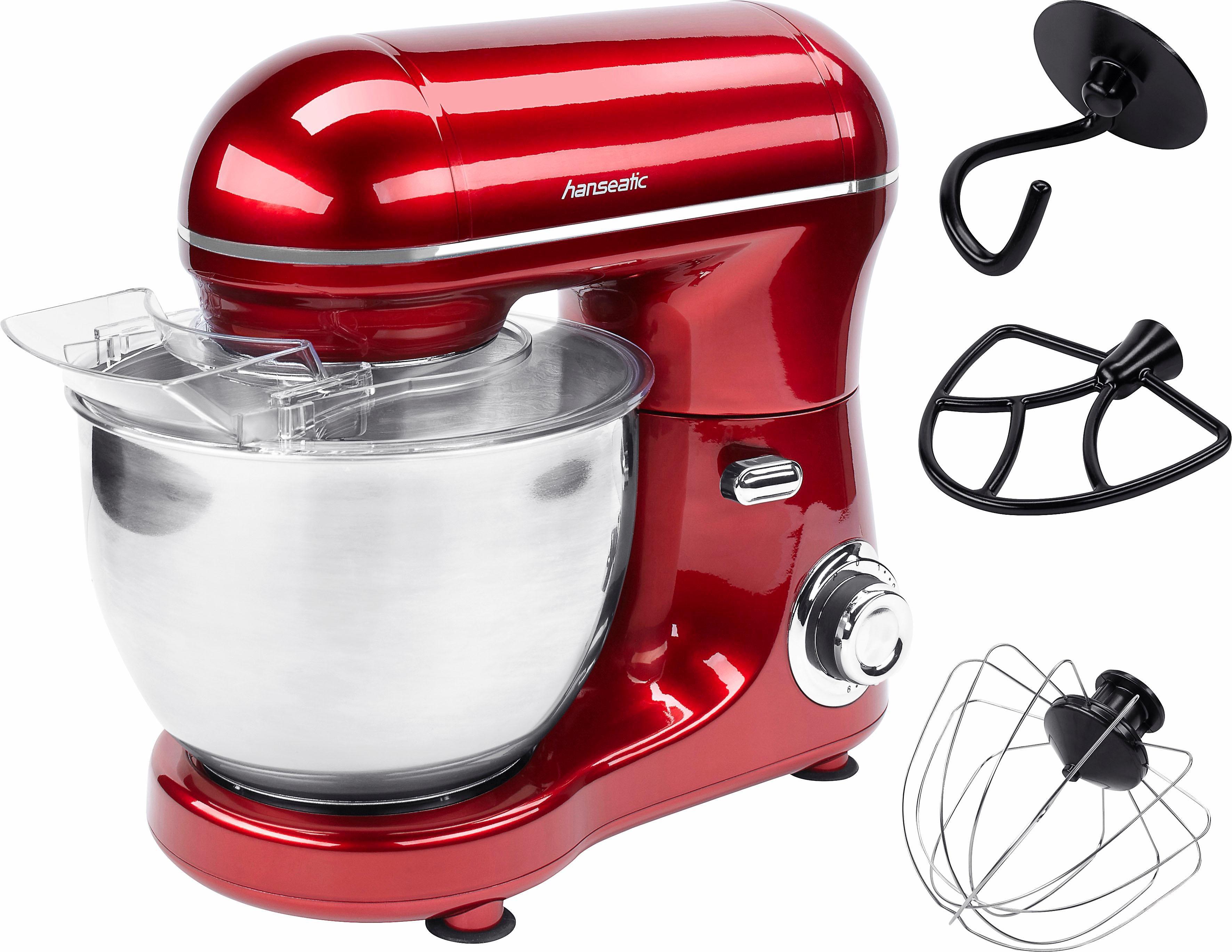 Hanseatic Küchenmaschine LW-6835G1 red, 600 W, 4 l Schüssel