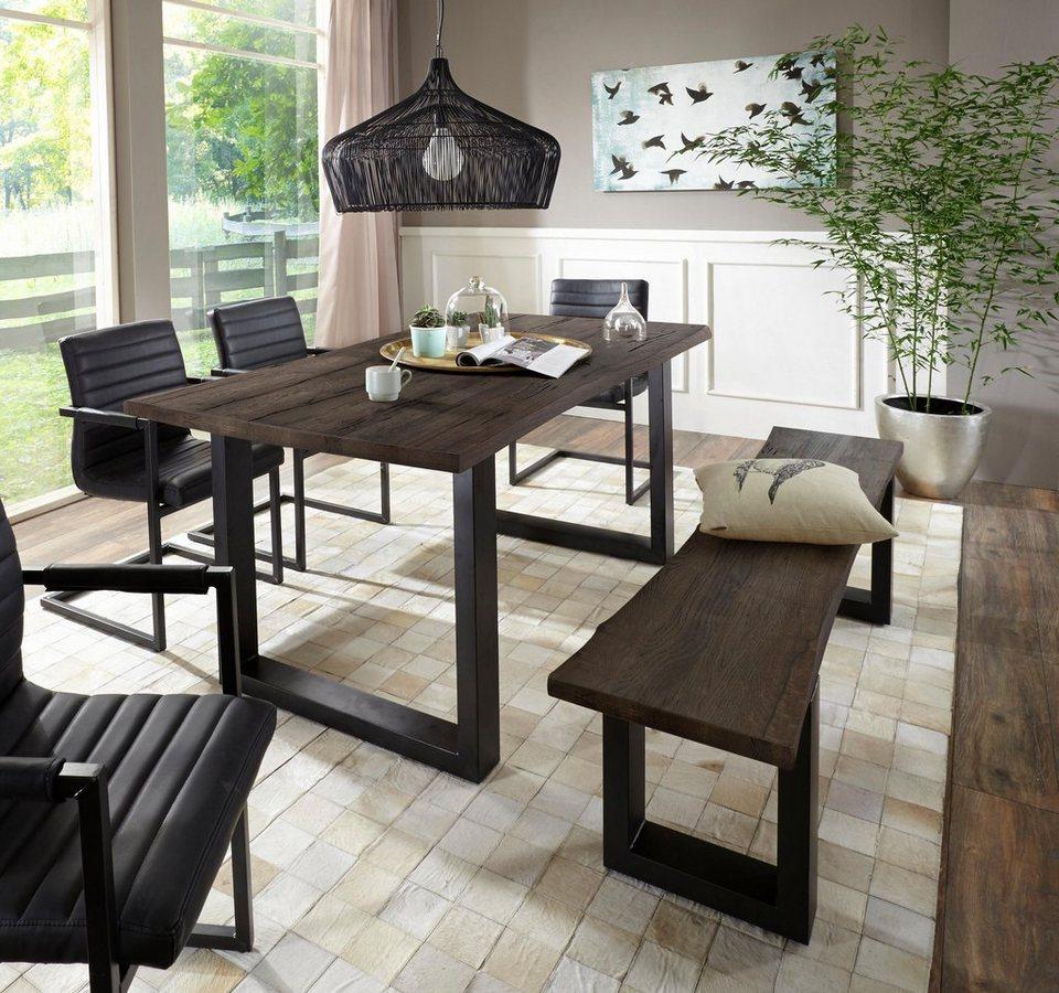 home affaire esstisch maryland mit baumkante otto. Black Bedroom Furniture Sets. Home Design Ideas