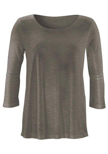 LASCANA Shirts mit Häkeleinsätzen an den Ärmeln (2 Stück)