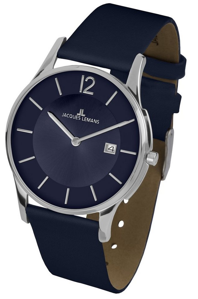 Jacques Lemans Classic Quarzuhr »London, 1-1850D« in blau