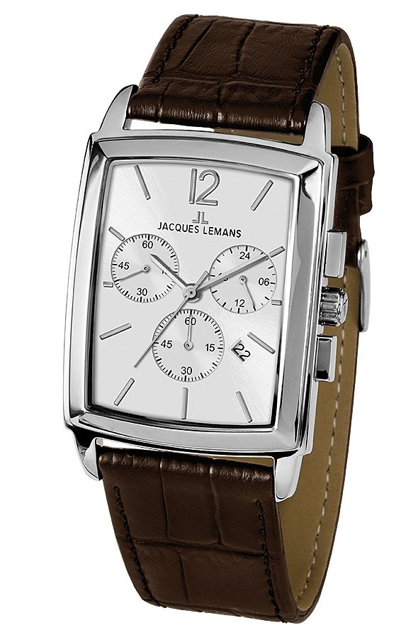 Jacques Lemans Classic Chronograph, »Bienne, 1-1906B« in braun