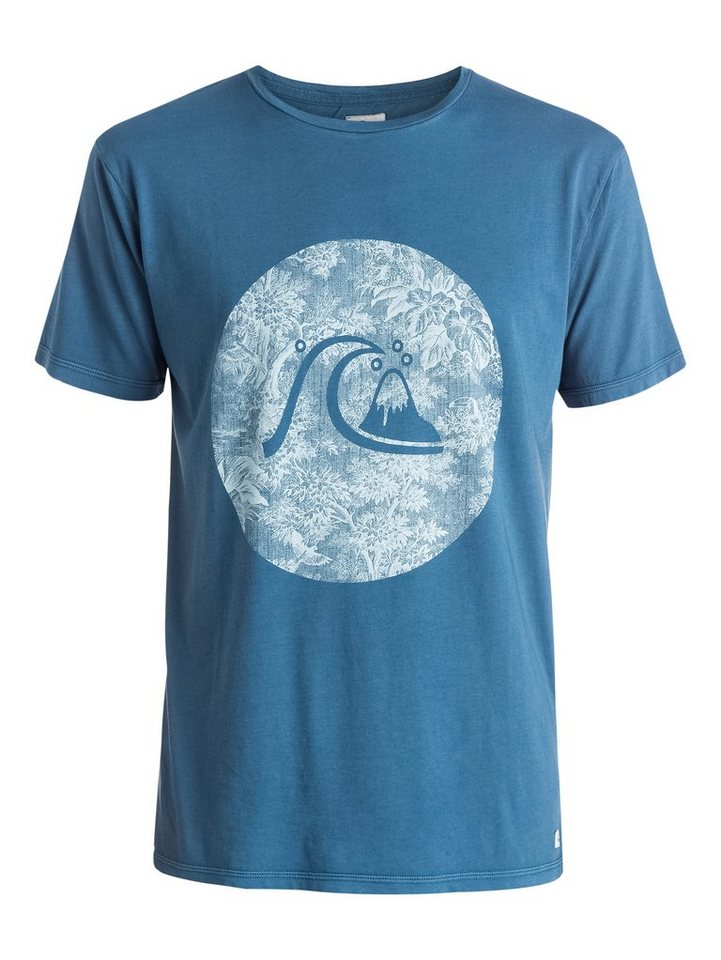 Quiksilver T-Shirt »Garment Dyed Sunset Tunels« in dark denim