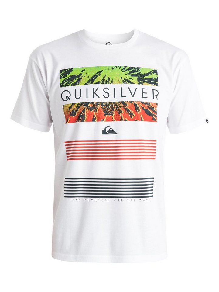 Quiksilver T-Shirt »Classic Line Up« in white
