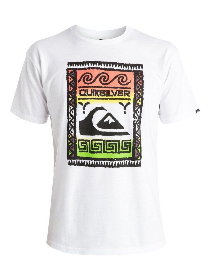 Quiksilver T-Shirt »Classic Wallstreet« in white