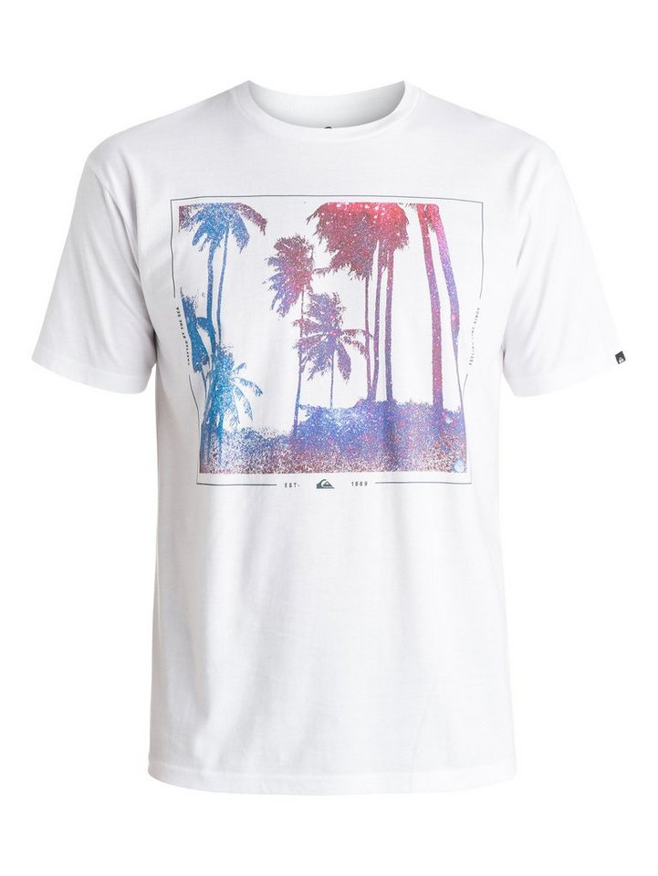 Quiksilver T-Shirt »Classic Night Vision« in white