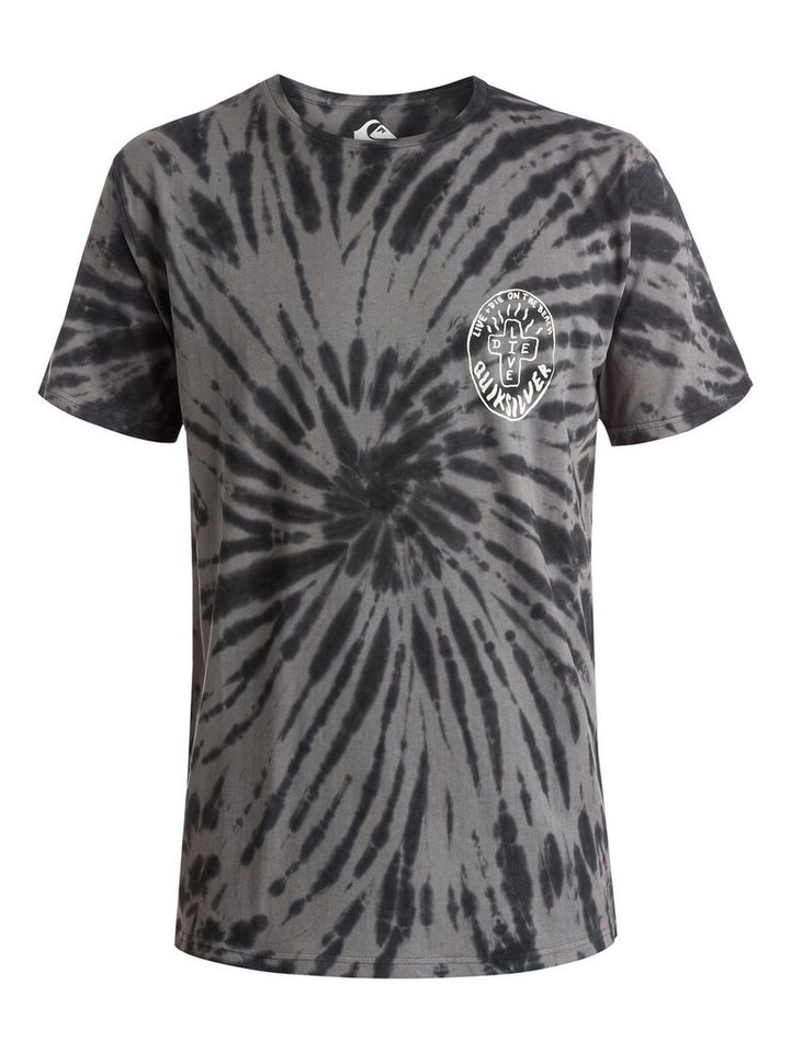 Quiksilver T-Shirt »Live And Dye« in Tarmac