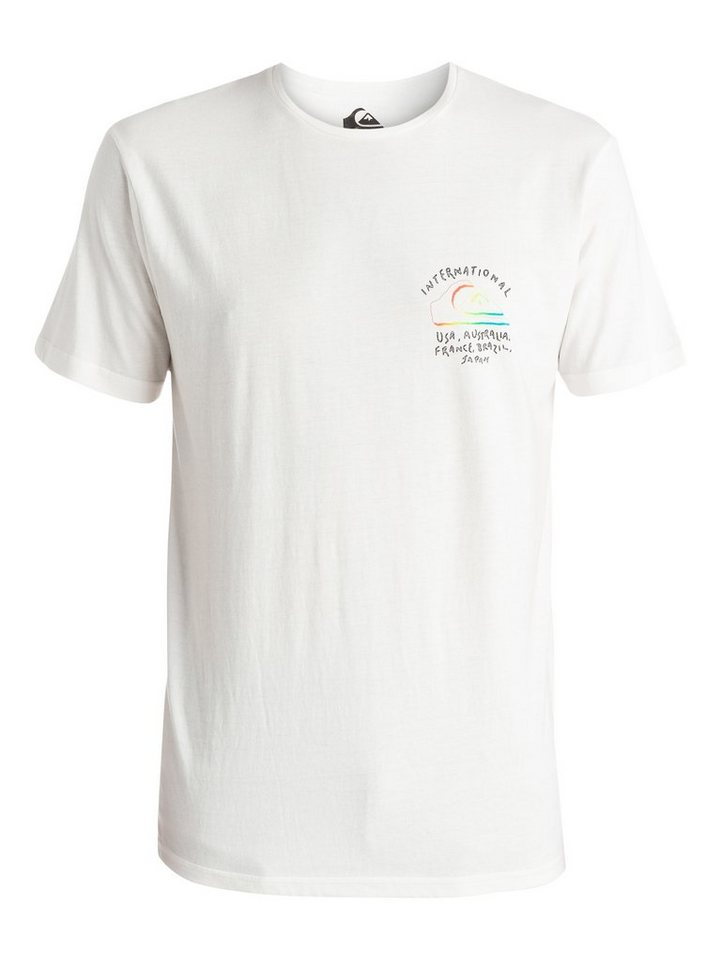 Quiksilver T-Shirt »World Force« in snow white