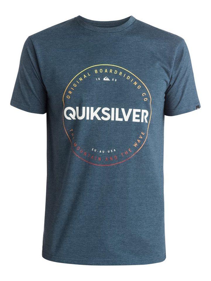 Quiksilver T-Shirt »Heather Timepiece« in dark denim heather