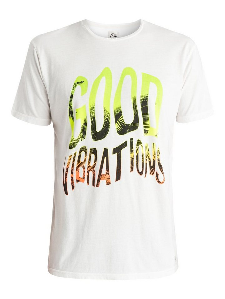 Quiksilver T-Shirt »Garment Dyed Good Vibrations« in snow white