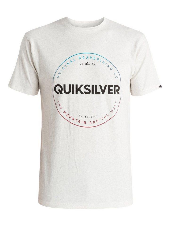 Quiksilver T-Shirt »Heather Timepiece« in snow white heather