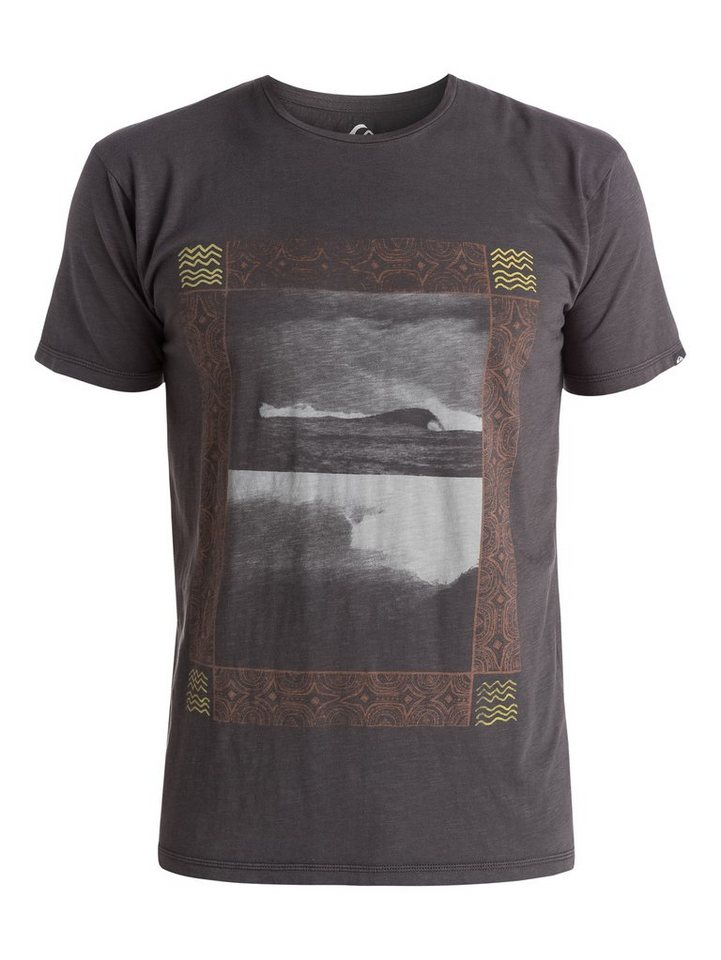 Quiksilver T-Shirt »Slub Split Screen« in tarmac