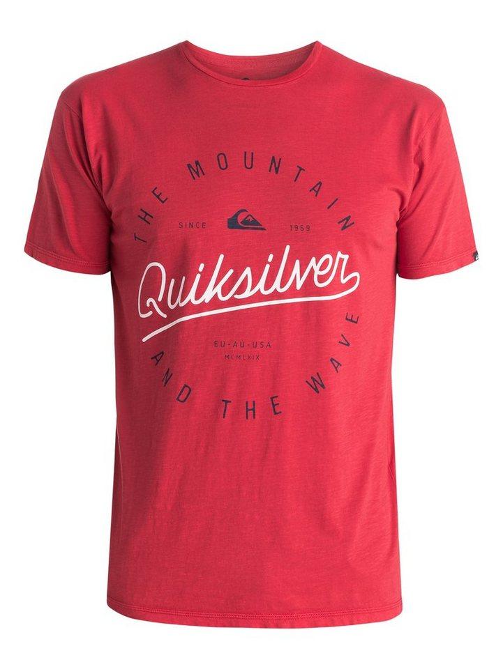 Quiksilver T-Shirt »Slub Scriptville« in american beauty