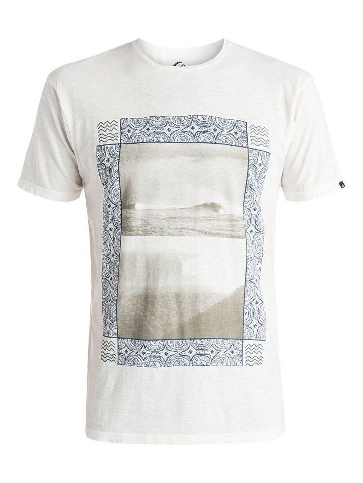 Quiksilver T-Shirt »Slub Split Screen« in snow white
