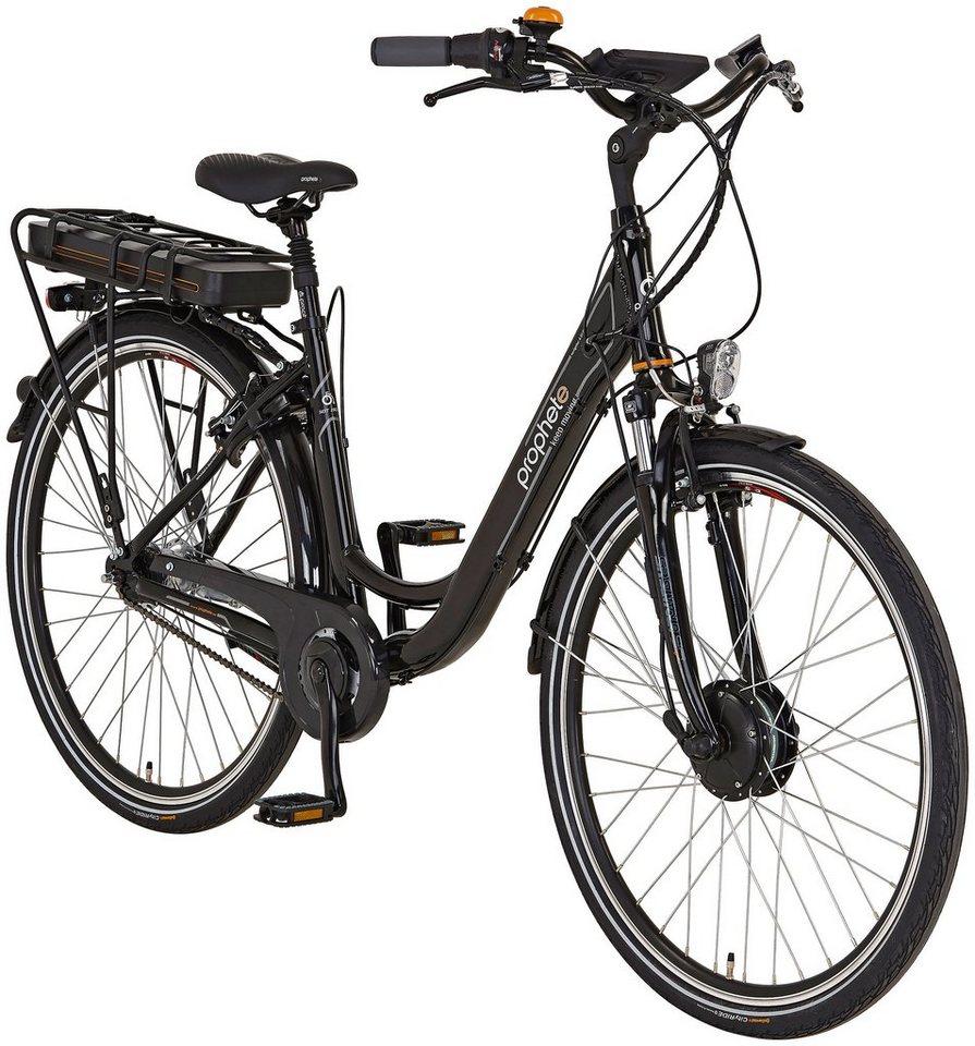 E-Bike City Damen »Navigator 6.01«, 28 Zoll, 7 Gang, Frontmotor, 468 Wh in schwarz