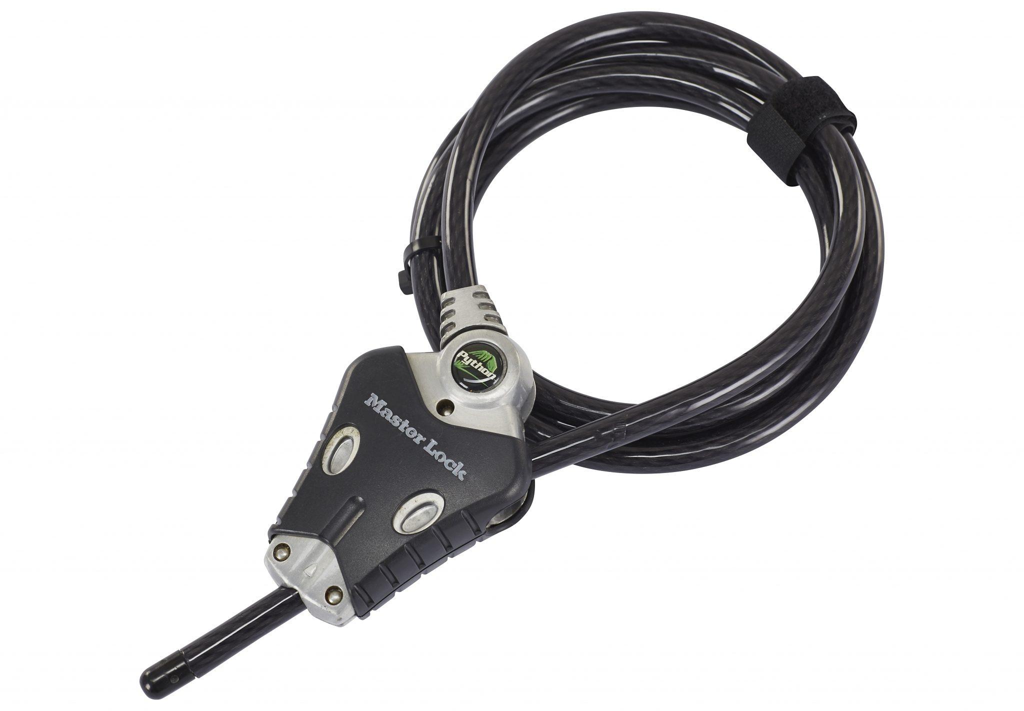 Masterlock Fahrradschloss »Python Lock 8428 Kabelschloss 10 mm x 1.800 mm«