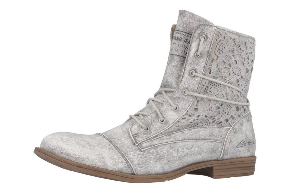Mustang Boots in Silber