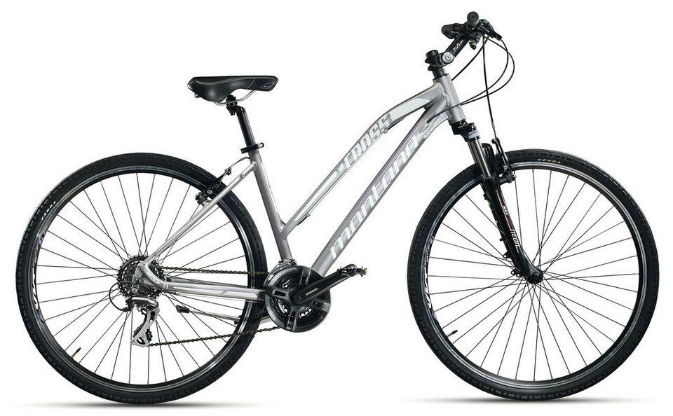 Montana Damen Crossbike, 28 Zoll, 24 Gang-Shimano Kettenschaltung, »X-Cross 28 Zoll Lady H951-L« in weiß